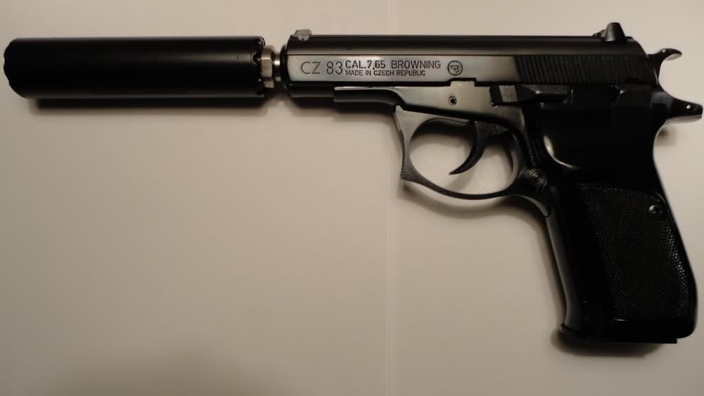 Травматический пистолет с глушителем
